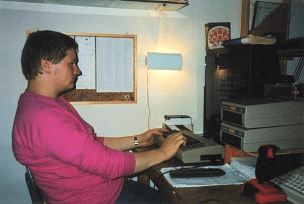 Me coding assembler on the C64 in September 1988. I was 22 years old.